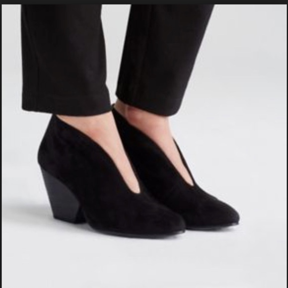 2e34fcbc9aef Eileen Fisher Iman Cut out Wedge Booties black 9